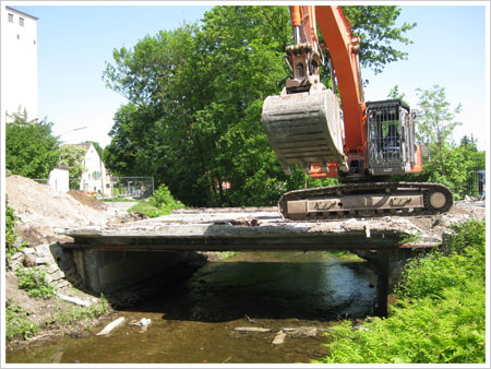 Brückenabbruch Mering Paarbrücke 2010